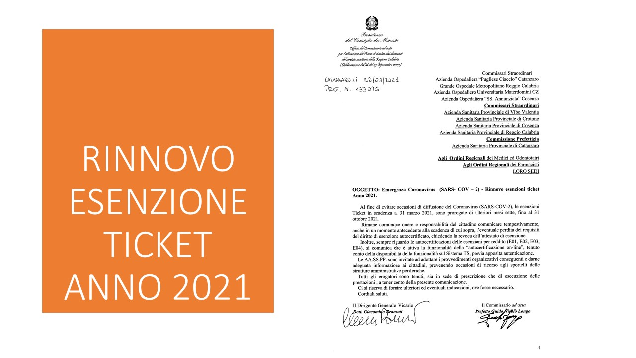 Rinnovo Ticket